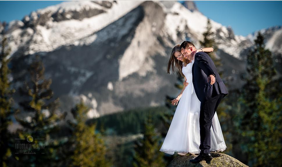 Fotograf na wesele Piotrków Trybunalski - sesja plenerowa w Tatrach