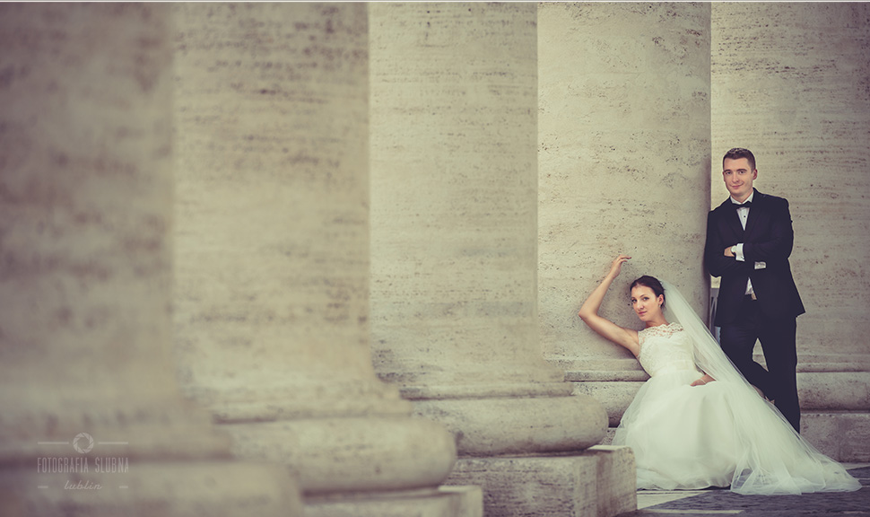 zdjęcia ślubne Piotrków Trybunalski - sesja plenerowa w Rzymie
