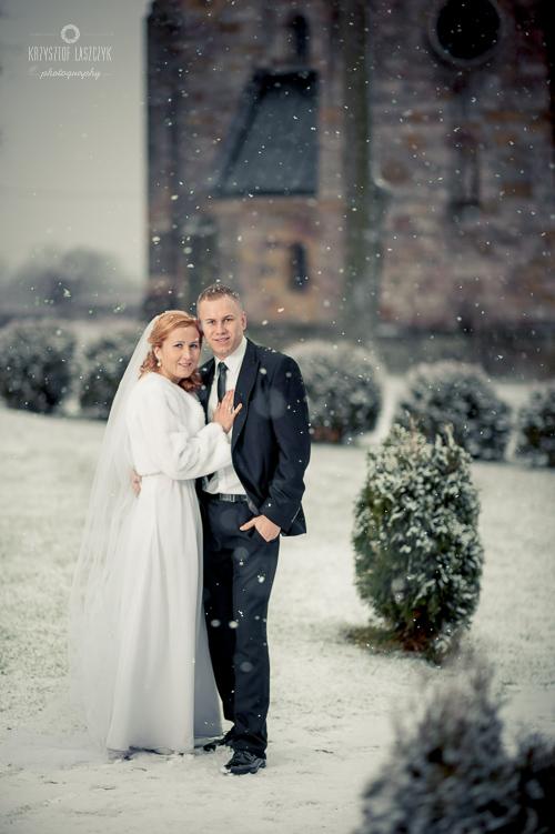 Sesja zimowa ślubna - Piotrków Trybunalski