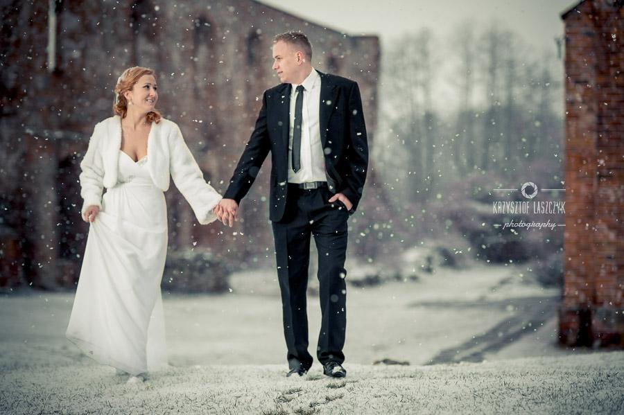 Ślubna sesja zimowa - Piotrków Trybunalski